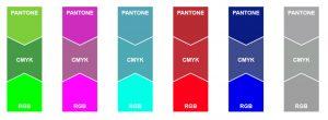 CMYK RGB Pantone