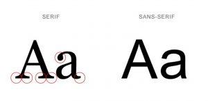 serif & Sans Serif fonts