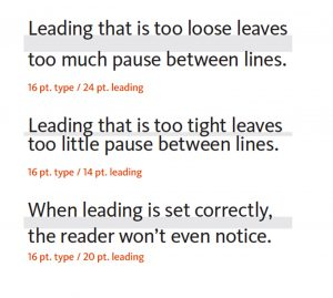Text leading