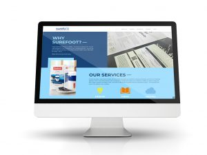 Surefoot website homepage