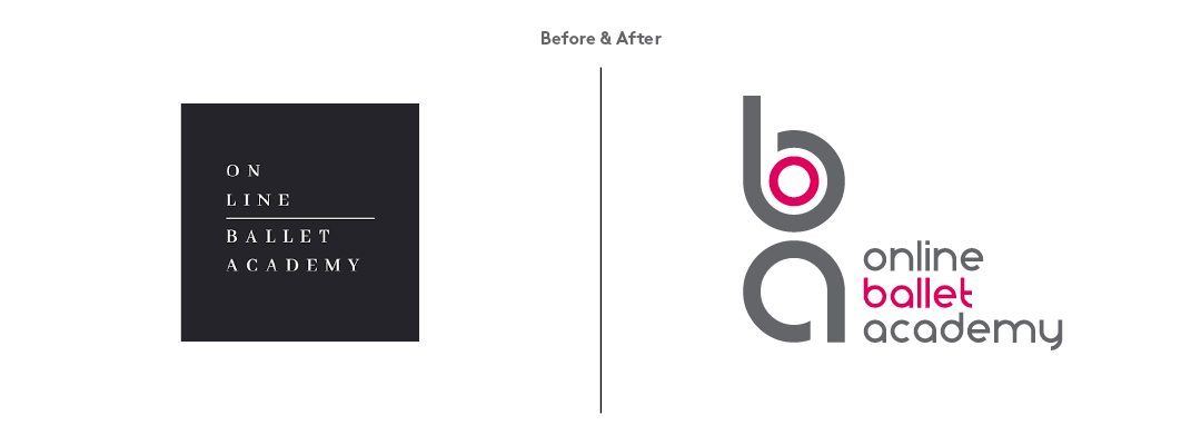 Online Ballet Academy Design Process - Before and after